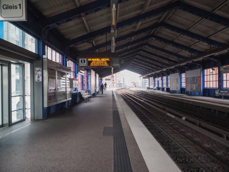 S Bahn w Hamburg (S pociąg) zdjęcie royalty free