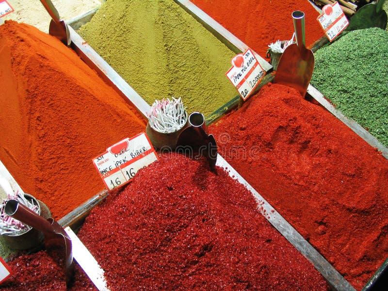 s bazaar egipcjanina Istanbul indyk przyprawy zdjęcie stock