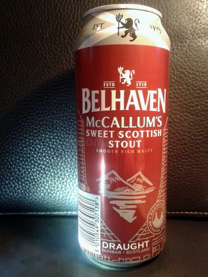` S Belhaven McCallum süßer schottischer Stout stockfotografie