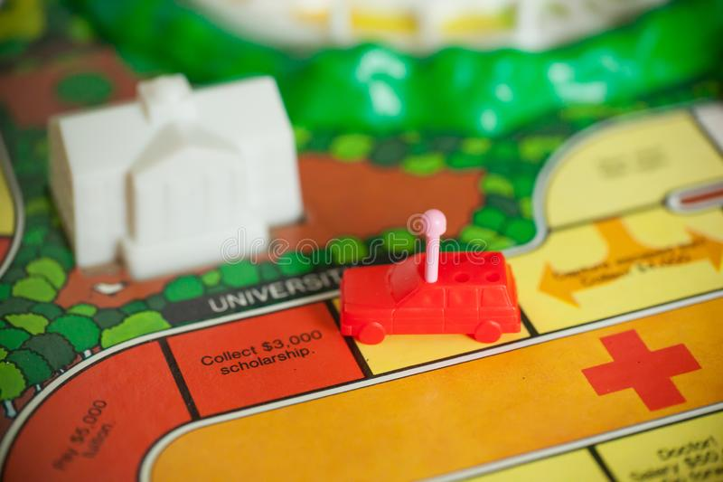 1980s Board Games - The Game of Life royalty free stock photography