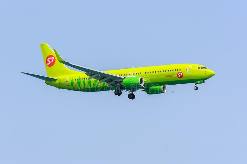 S7 Boeing 737-800. Boeing 737-800 of Russian airline S7 Airlines stock photography