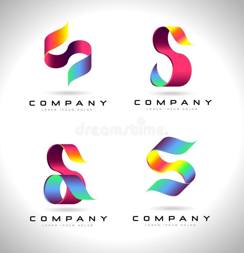 S-bokstav Logo Design stock illustrationer