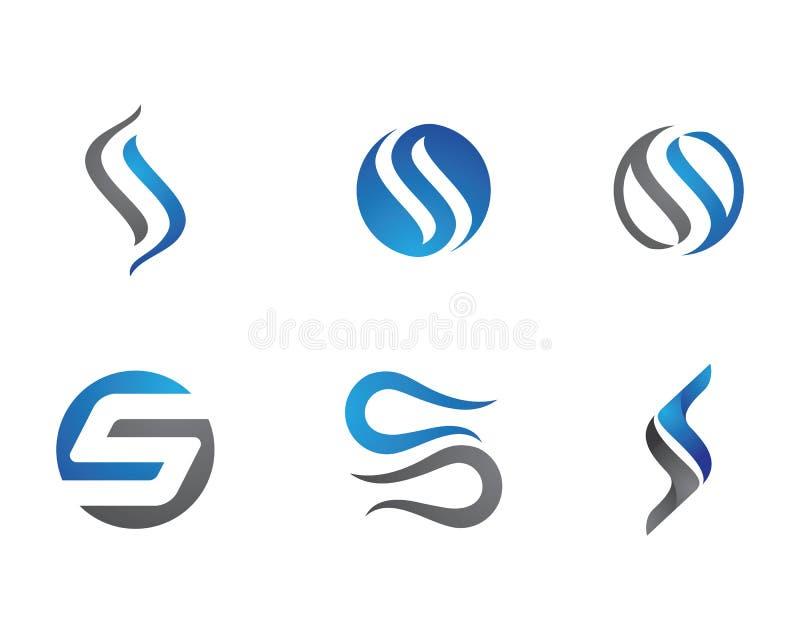 S-bokstavs- och s-logo stock illustrationer