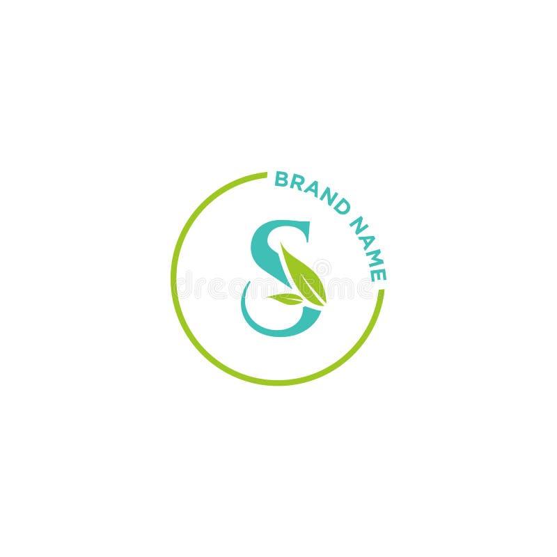 S-bokstavslogo eller initialer för affär royaltyfri illustrationer