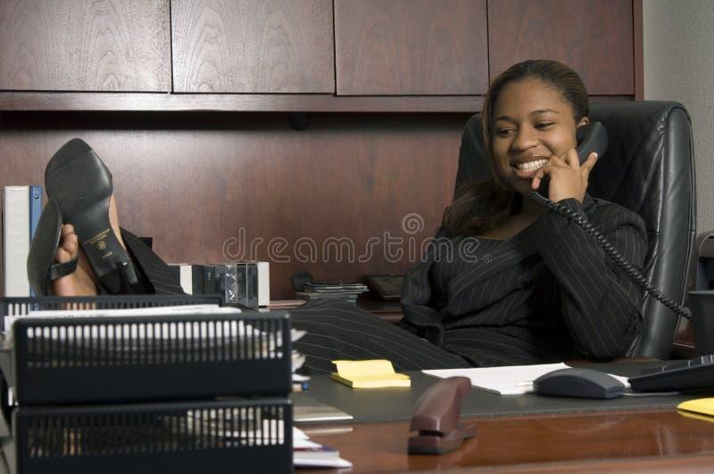 She's the boss stock photos