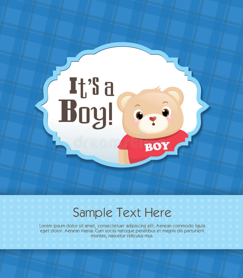 Download It's a boy! stock vector. Image of birth, message, deliver - 23849393