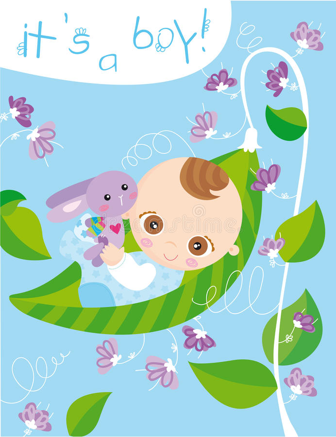It's a boy! vector illustration