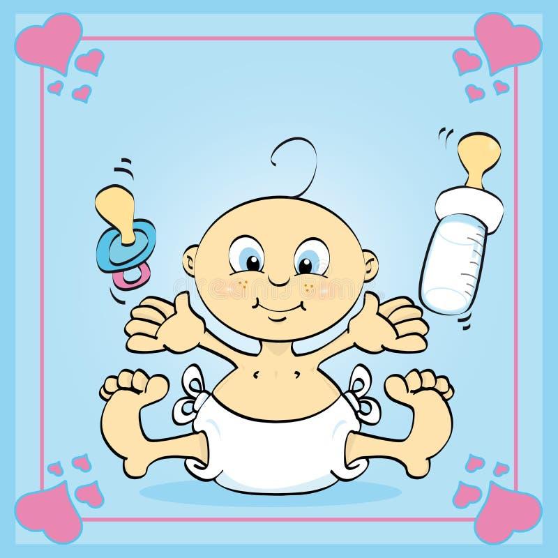 Download He's a boy stock vector. Illustration of cloud, bottle - 9876741