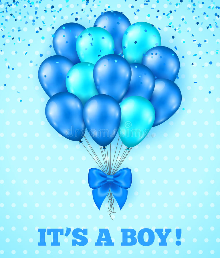 Beautiful Download Itu0027s A Boy, Baby Shower Background Stock Vector   Illustration Of  Card, Congratulate