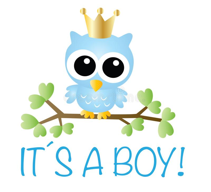 It´s a boy baby shower or newborn announcement royalty free illustration