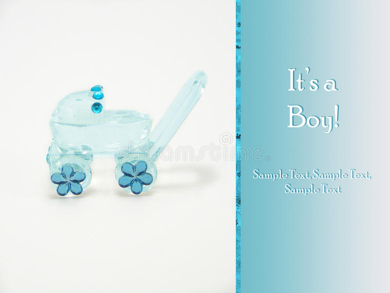It s a boy - New baby announcement card