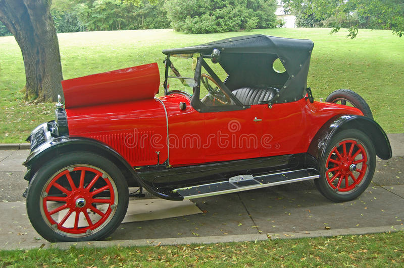 1920s Buick roadster. 1920s red Buick two-door roadster automobile stock image