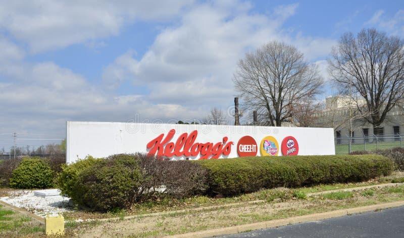 ` S Cereal Company, Jackson, Tennessee di Kellogg fotografie stock libere da diritti