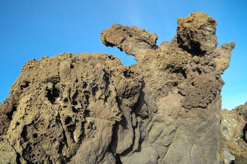 S?chez Lava Rocks durci photographie stock