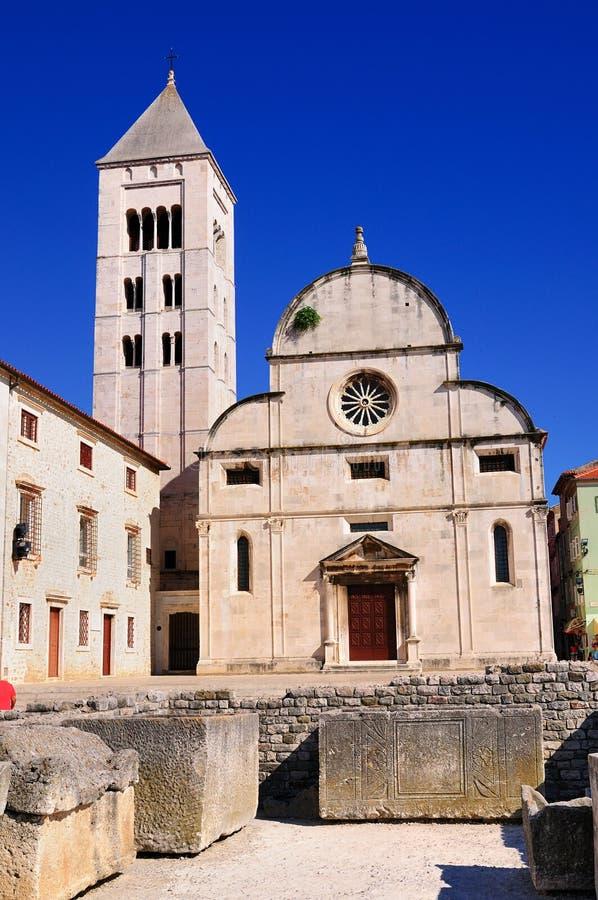 ` S Chuch, Zadar di St Mary fotografie stock