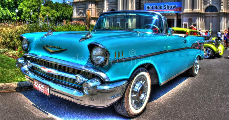 1950s classic American Chevy convertible royalty free stock photography