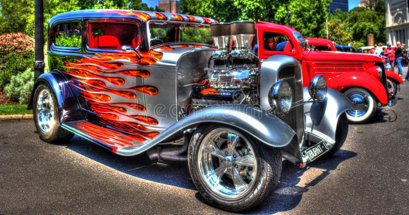 1930s classic American Ford hot rod stock image