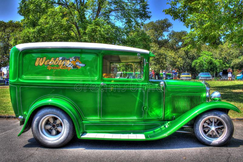 1930s classic American Ford Model A delivery van royalty free stock images
