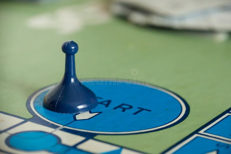 1980s Classic Board Games - Sorry. WOODBRIDGE, NEW JERSEY - October 9, 2018: Details of a circa 1980s board game of Sorry are shown stock image
