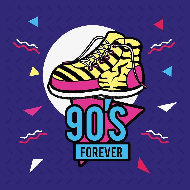 90s conçoivent pour toujours illustration libre de droits