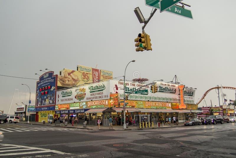 ` S Coney Island New York di Nathan immagini stock libere da diritti