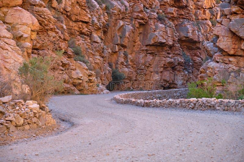 Gravel road of the Karoo stock image