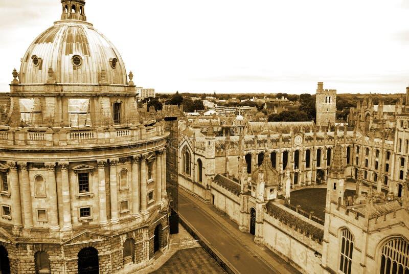 `S d'Université d'Oxford toute l'université du `s d'âme photo stock