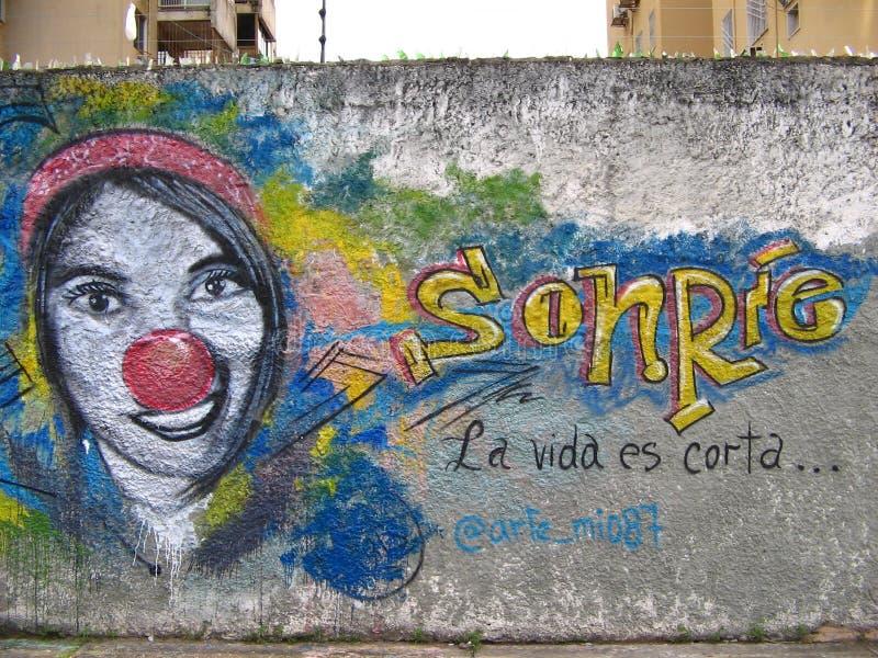 South American Street Art, Guayana City, Venezuela stockbilder