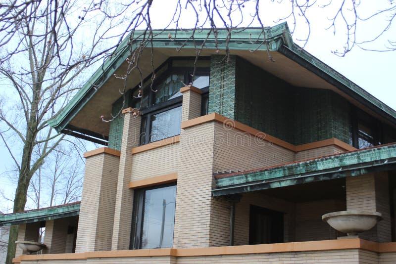 ` S Dana Thomas House de Frank Lloyd Wright, Springfield, IL fotos de stock royalty free