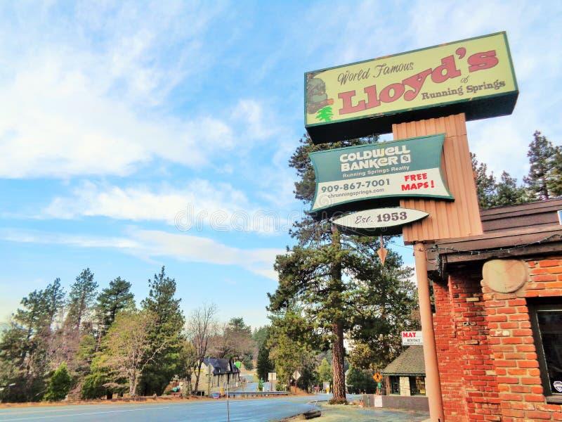 ` S das molas running, marco local de Lloyd foto de stock royalty free