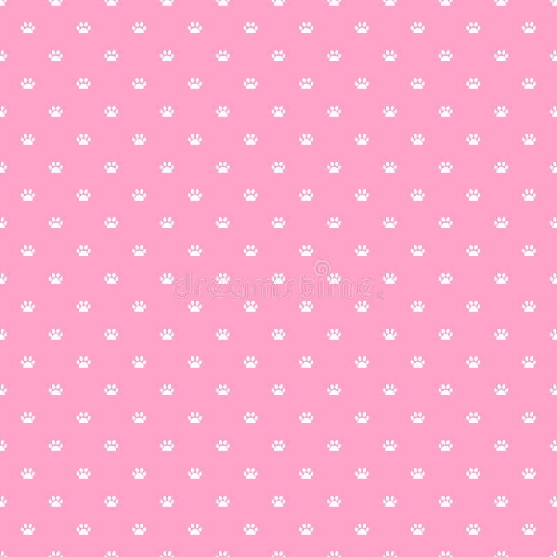 ` S de chat ou modèle sans couture de rose de patte du ` s de chien illustration de vecteur