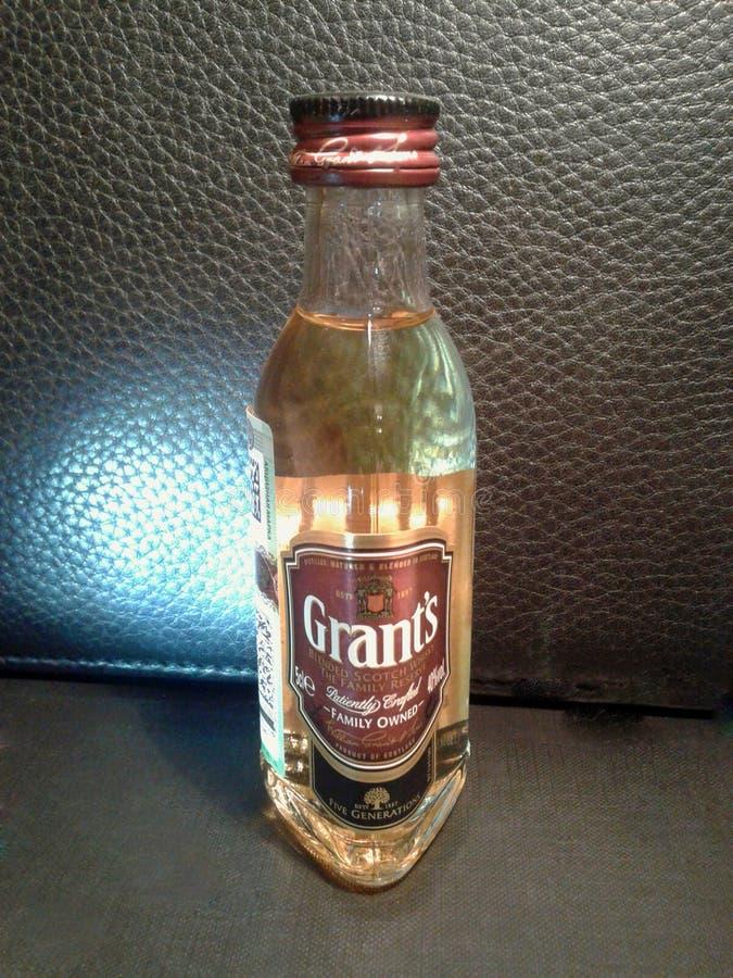 ` S de Grant Whisky mezclado escocés foto de archivo libre de regalías