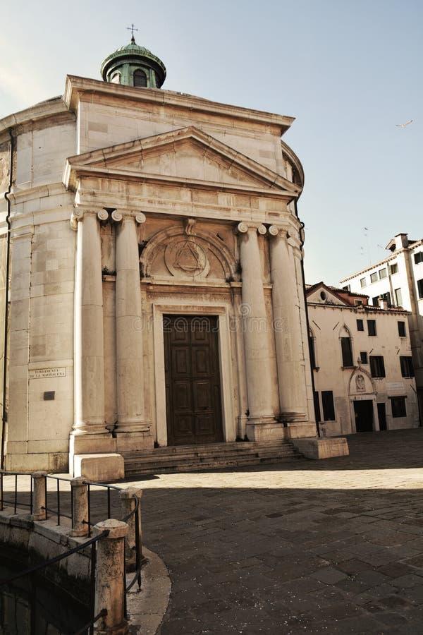 S De kerk van Maddalena, uitstekende tinten, Venetië, Italië, Europa stock afbeeldingen