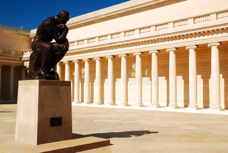 ` S de Rodin el pensador fotos de archivo libres de regalías