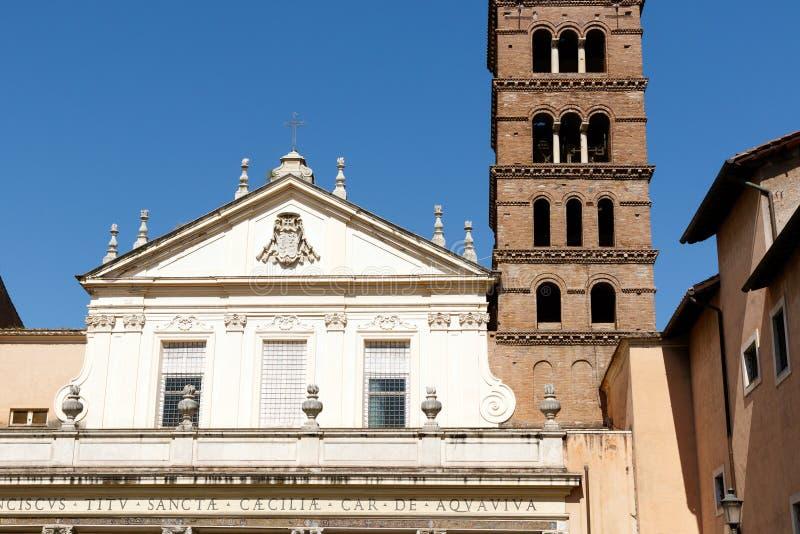 ` S de St Cecilia à Rome, Italie image libre de droits