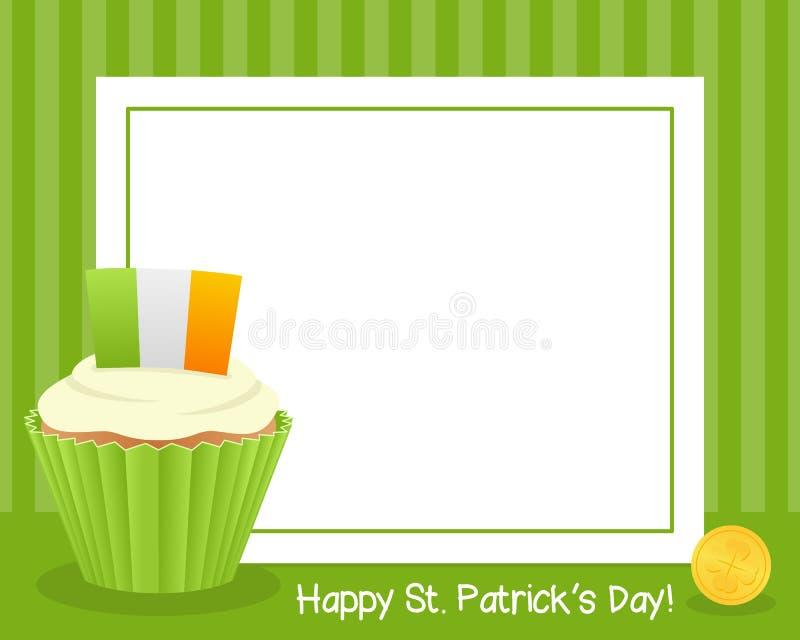 ` S de St Patrick com quadro horizontal do queque ilustração royalty free