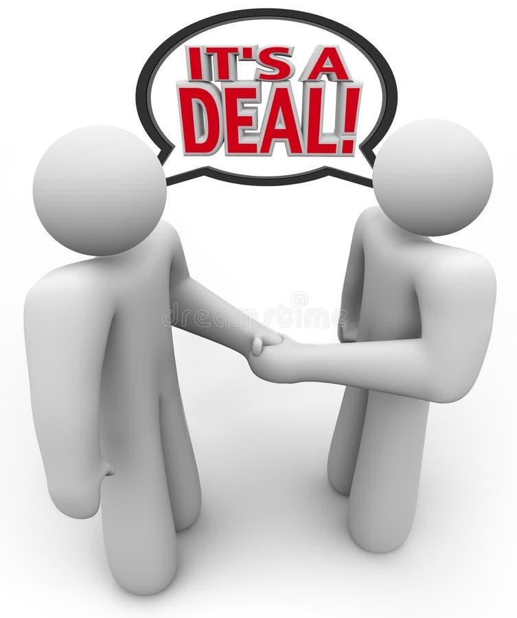 Download It's A Deal People Buyer Seller Handshake Stock Illustration - Illustration: 23999195