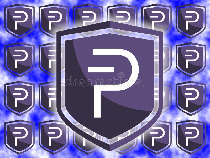 ` S del logotipo de la moneda de Pivx ilustración del vector