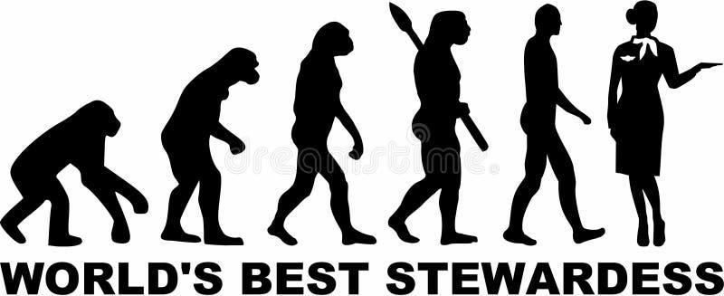 ` S del mundo de Evolution de la azafata mejor libre illustration