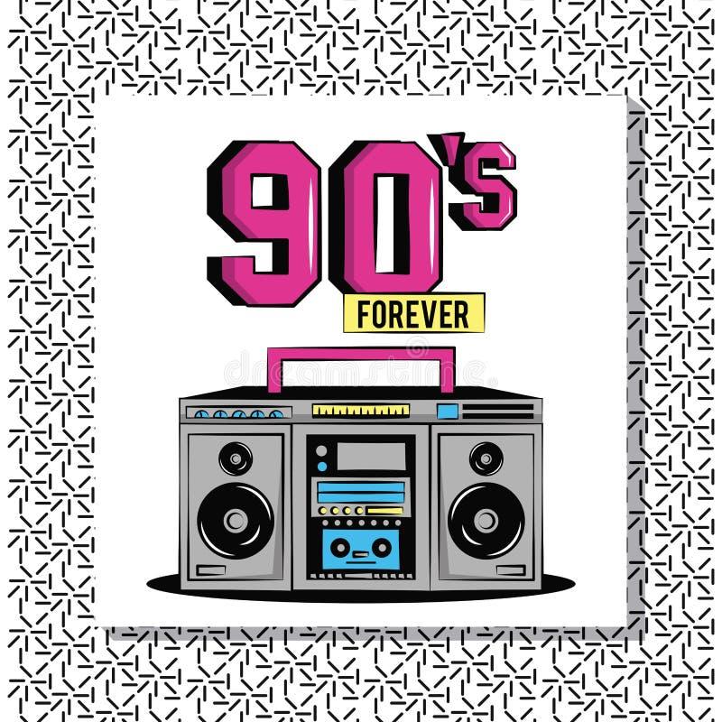 90s diseñan para siempre libre illustration