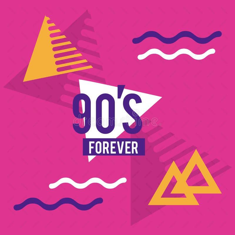 90s diseñan para siempre stock de ilustración