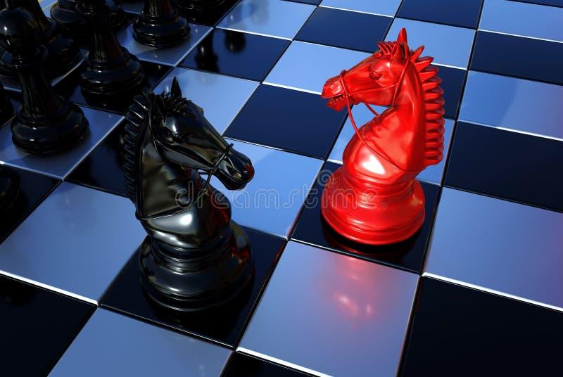 ` S do cavaleiro da xadrez dois na placa ilustração do vetor