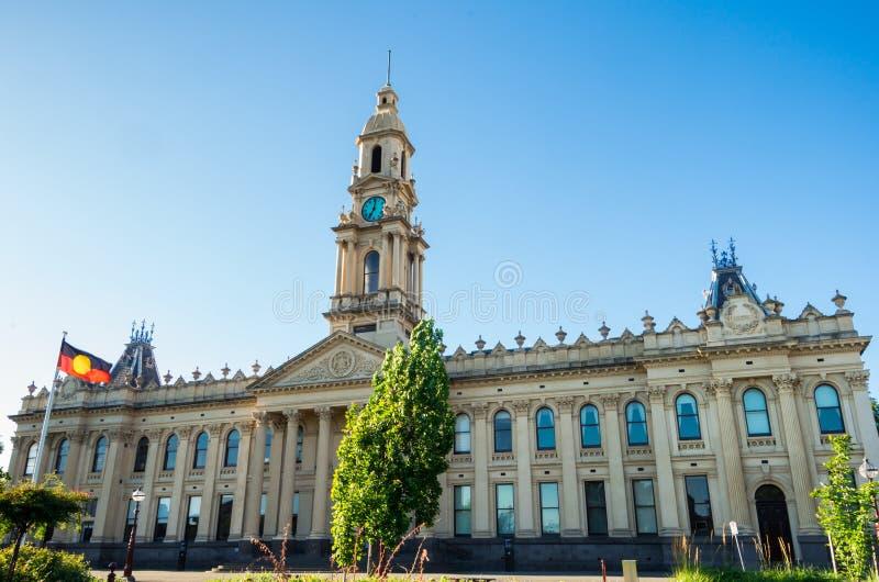 S?dra Melbourne stadshus i staden av port Phillip i Melbourne, Australien royaltyfri bild