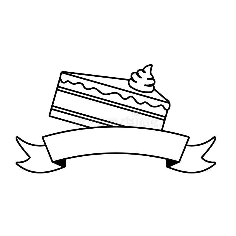 S??e Kuchenscheibe lizenzfreie abbildung