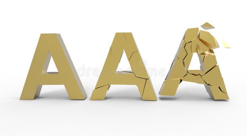 S'effondrer triple-A de symbole illustration de vecteur