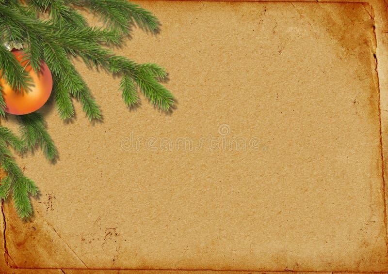 s'embranche arbre de lpaper de Noël le vieux rétro illustration libre de droits