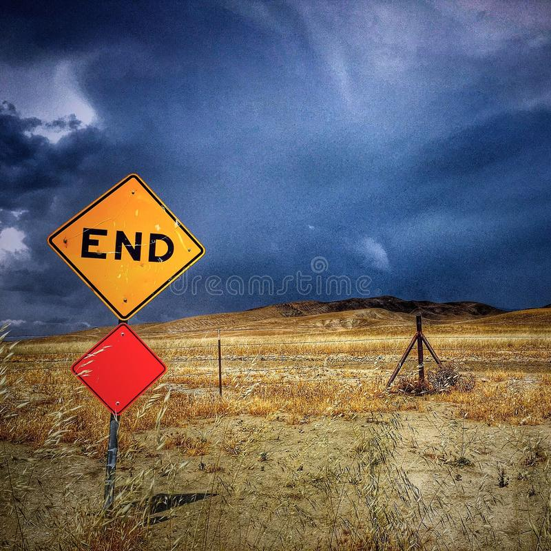 It's the end of the world stock photo