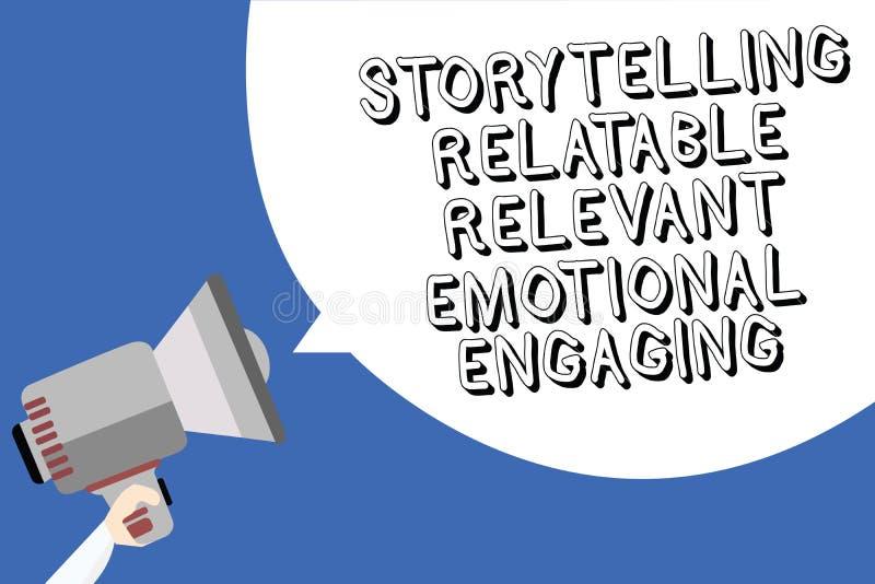 S'engager émotif approprié racontable de fabulation d'écriture des textes d'écriture Les contes de souvenirs de part de significa illustration stock