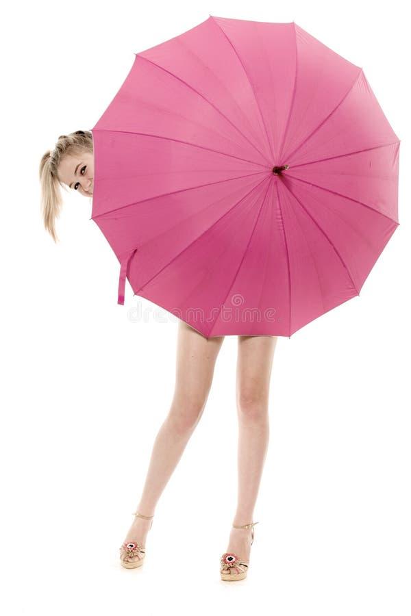 S'est caché pour un parapluie image libre de droits