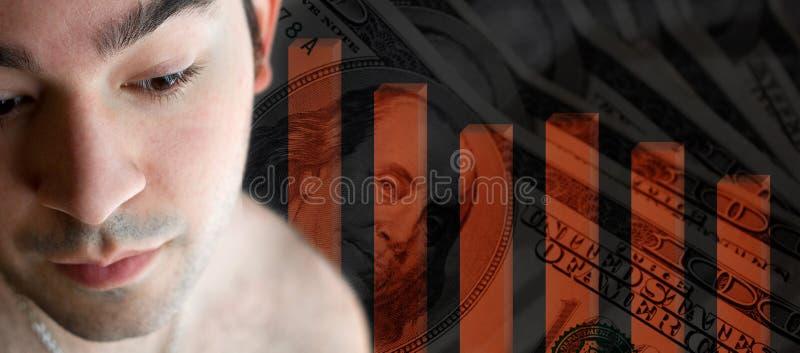 S'est inquiété de l'argent photos libres de droits